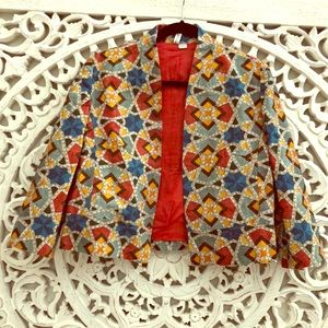 ANTHROPOLOGIE Bl-nk Tazia Geometric Jacket